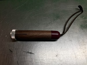 Walnut Hand Held Crayon Holder w/Strap